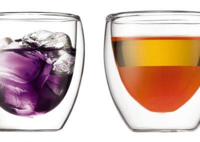 Dvigubo stiklo puodukai. Aukšta kokybė.