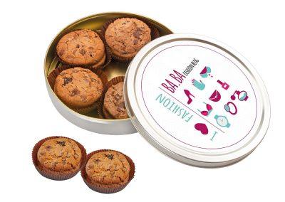 Amerikietiški sausainiai, metalinėje dėžutėje. 190 gr., skersmuo 195