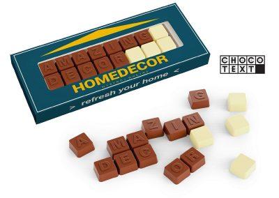 132 šokoladinis tekstas, 60 g.