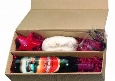 Kalėdinis rinkinys (Vynas karštas, žvakė, puodelis, pyragėlis)