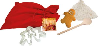 Išsikepk imbierinių sausainių kepimo priedai (rasite kepimo mišinio priedą, 2 formeles, maišymo įrankį).