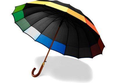 16 panelių automatinis skėtis