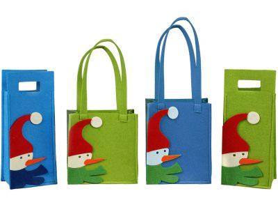 Kalėdiniai maišeliai iš veltinio