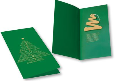 "Kalėdinė atvirutė ""Eglutė"". 105x210mm"