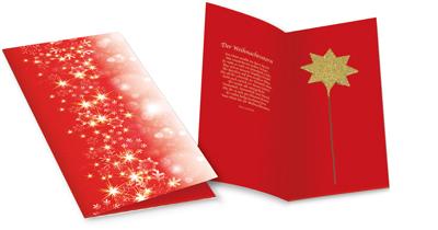 """Kalėdinė atvirutė """"Šviečianti žvaigždė"""". 105x210mm"""